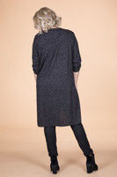 High-Low Heather Tunic - Black