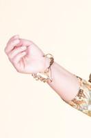 Layer String Drawstring Bracelet - Topaz