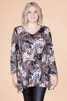 Always Ready Tunic  - Pink Spotted Camo Print