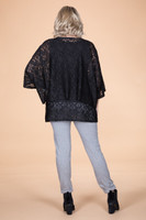 Transformative Lace Layering Top - Black