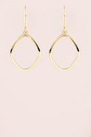 Geometric Drop Earrings - Gold