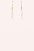 Mini Pearl Drop Earrings - Gold