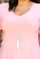 Fringe Pearls & Tassel Drop Necklace - Rhodium