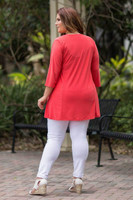 Beautifully Simple Tunic - Coral