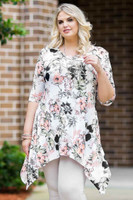 Your Best Foot Forward Tunic - Rosa Hawaiian Print