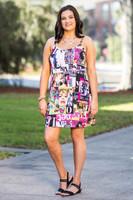 Perfectly on Point Tank Dress - Magazine Print