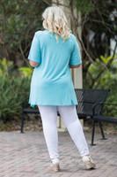 Fair Weather Short Sleeve Tunic - Aqua