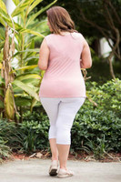 Every Question Answered Sleeveless Top - Rosa