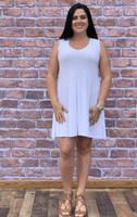 Feel The Beat Sleeveless Dress- White