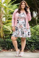 Better Than Ordinary Blouson Dress - Rosa Hawaiian Print