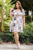 Better Than Ordinary Blouson Dress - Rosa Hawaiian Print