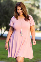 Better Than Ordinary Blouson Dress - Rosa