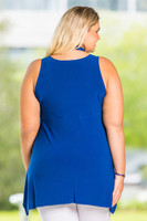 Everything You Need Sleeveless Top - Cobalt