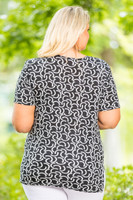 Basic But Never Boring Short Sleeve Shirt - Connections Print
