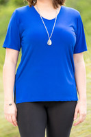 Basic But Never Boring Short Sleeve Shirt - Cobalt