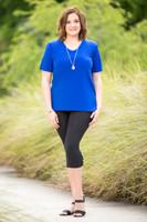Basic But Never Boring Short Sleeve Shirt - Cobalt
