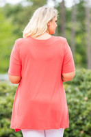 Fair Weather Short Sleeve Tunic - Coral