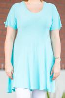 Pretty as a Picture Short Sleeve Top - Baby Blue
