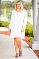 A Multi-Tasker, Just Like Me Dress - Creme