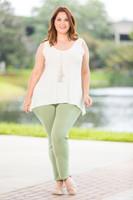 All Buttoned Up Legging - Green Khaki