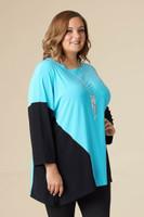 Easy Breezy Drop Shoulder Tunic - Aqua