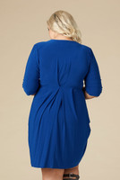 That's a Wrap Dress - Royal