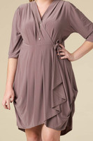 That's a Wrap Dress - Taupe