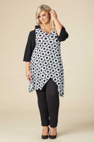 Coldest Shoulder Tunic - Sunburst Print
