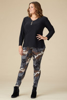 Instant Favorite Legging - Grey Spotted Camo Print