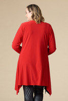 Saturday Morning Open Front Cardigan - Red