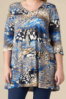 Beautifully Simple Tunic - Gilded Animal Print