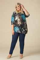 Say it Out Loud Tunic - Teal Print