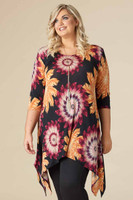 Your Best Foot Forward Tunic - Oaker Print