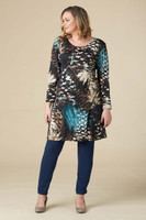 A Multi-Tasker, Just Like Me Dress - Teal Print