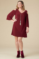 Play it Again Dress – Wine Red