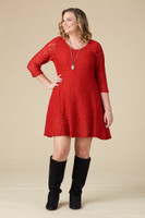 Amazing Things Can Happen Dress - Red Lace