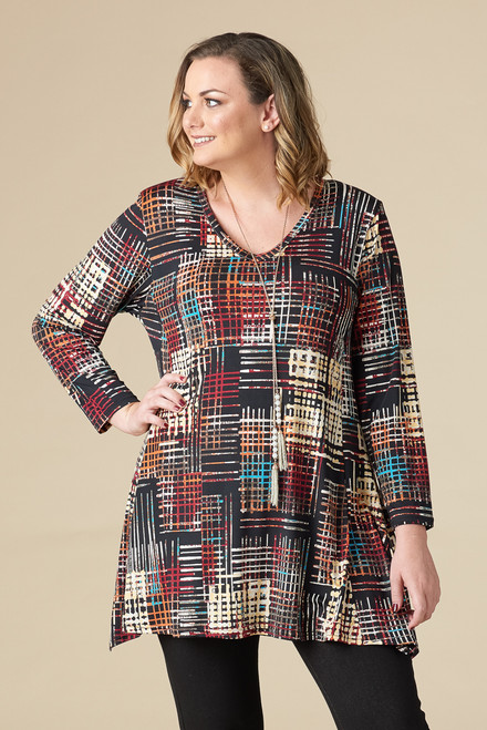 Always Ready Tunic  - Stripe Print