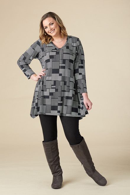 Always Ready Tunic  - Grey Print