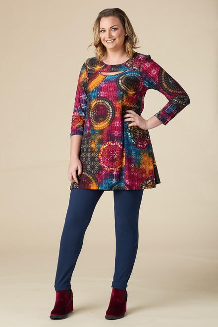 Fly Away Tunic – Teal Print