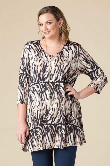 Beautifully Simple Tunic - Animal Print