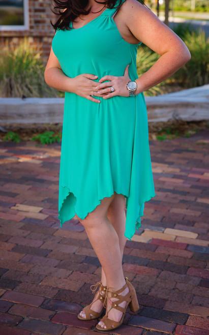 As Good as Gold Sleeveless Dress - Mint