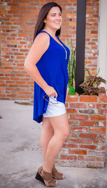Show it off Tunic - Cobalt