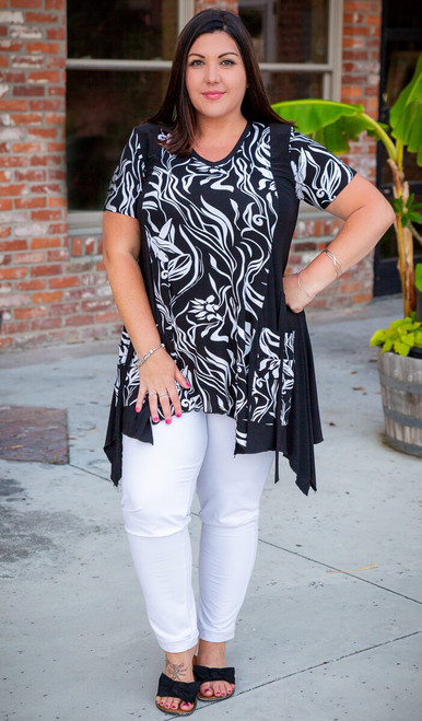 Pick Me Up Tunic- Black