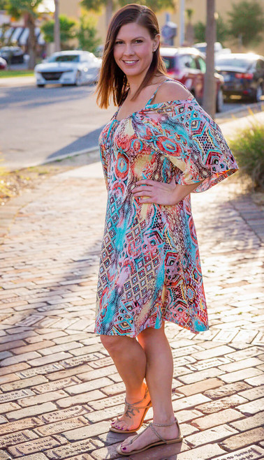 Take Me Away Dress-Print Mint