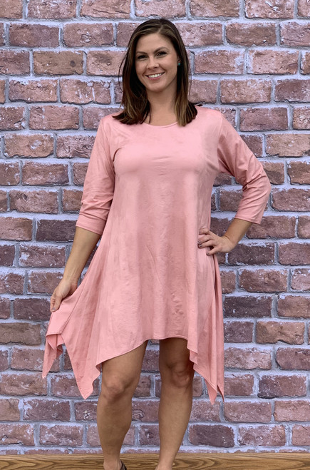 Best Foot Forward Tunic - Faux Leather Rosa
