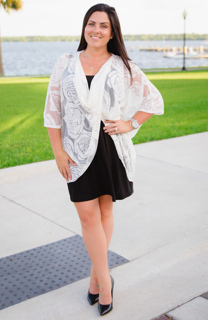 Butterfly Kisses Poncho - Creme