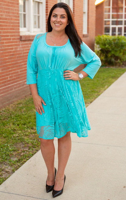 Cordially Invited Dress- Aqua