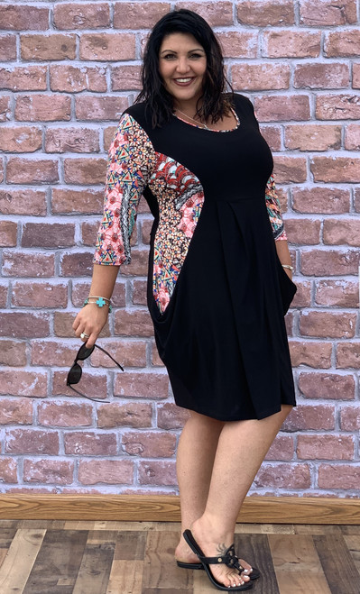 Go Figure Dress- Black