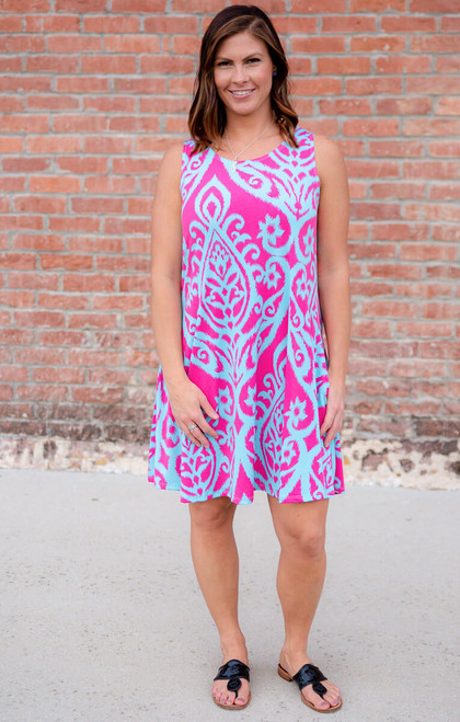 Day Dreamer Dress- Fuchsia