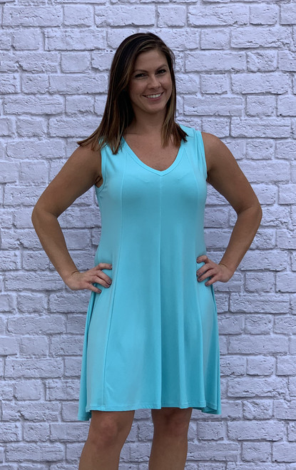 Feel The Beat Dress - Aqua